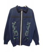 SYU.(シュウ)の古着「ニットジャケット」|ネイビー
