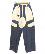 SYU.(シュウ)の古着「イージーデニムパンツ」 ブルー