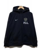 F.C.R.B. × NIKE × FRAGMENT DESIGN(エフシーアールビー × ナイキ × フラグメントデザイン)の古着「フーデッドジャケット」 ブラック
