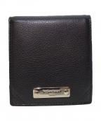 Yves Saint Laurent(イヴサンローラン)の古着「ロゴプレート2つ折り財布」 ブラック