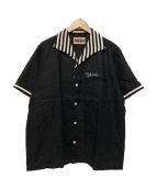 WEIRDO(ウィアード)の古着「スラブシーチングシャツ」|ブラック