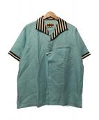 WEIRDO(ウィアード)の古着「スラブシーチングシャツ」|ブルー