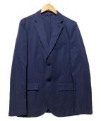 agnes b homme(アニエスベーオム)の古着「リネン混テーラードジャケット」|ネイビー