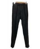 agnes b homme(アニエスベーオム)の古着「リネンスラックス」|ブラック