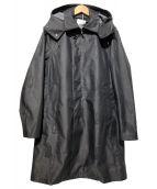 Aquascutum(アクアスキュータム)の古着「ポリエスステルフーデッドコート」|グレー