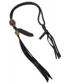 BACKLASH(バックラッシュ)の古着「レザーネックレス」|ブラック