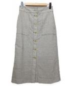 3.1 phillip lim(スリーワン・フィリップ・リム)の古着「前開きスカート」|グレー