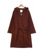 自由区(ジユウク)の古着「フーデッドメルトンコート」|ブラウン