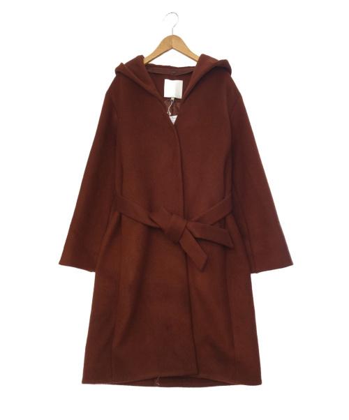 自由区(ジユウク)自由区 (ジユウク) フーデッドメルトンコート ブラウン サイズ:SIZE 40の古着・服飾アイテム