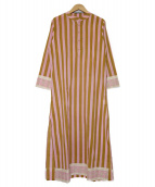 Ron Herman(ロンハーマン)の古着「Stripe Dress ワンピース」|ピンク×ブラウン
