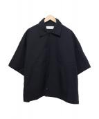 NEON SIGN(ネオンサイン)の古着「ハーフスリーブコーチシャツ」|ブラック