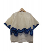 3.1 phillip lim(スリーワン・フィリップ・リム)の古着「刺繍ブラウス」|アイボリー×ブルー