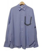 Name.(ネイム)の古着「COTTON TAPED POCKET SHIRT」|ブルー