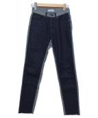 AMERI(アメリヴィンテージ)の古着「切替デニムパンツ」|インディゴ