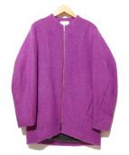 ELENDEEK(エレンディーク)の古着「モヘアノーカラーコート」|パープル