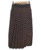 CLANE(クラネ)の古着「ペイズリープリーツスカート」|ブラウン
