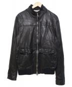 MUSHER(マーシャー)の古着「レザージャケット」|ブラック