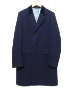 GUCCI(グッチ)の古着「BOUND COLLOR COAT」|ネイビー