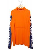 CHRISTIAN DADA(クリスチャンダダ)の古着「Oversized Turtleneck Print T-s」|オレンジ