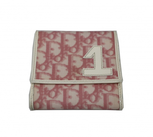 Christian Dior(クリスチャンディオール)Christian Dior (クリスチャンディオール) トロッター 3つ折り財布 ピンクの古着・服飾アイテム