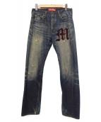 CDG JUNYA WATANABE MAN(コムデギャルソンジュンヤワタナベマン×リーバイス)の古着「デニムパンツ」|ブルー