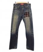 CDG JUNYA WATANABE MAN(コムデギャルソン ジュンヤワタナベマン)の古着「デニムパンツ」 ブルー