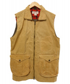FILSON GARMENT(フィルソンガーメント)の古着「オイルドハンティングベスト」|ベージュ