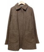 JIL SANDER(ジルサンダー)の古着「ツイードコート」|ブラウン