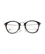 OLIVER PEOPLES(オリバーピープルズ)の古着「CORDING 眼鏡」|ブラック×ゴールド