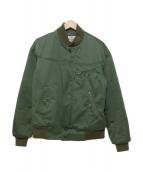KAPTAIN SUNSHINE(キャプテンサンシャイン)の古着「VARSITY JACKET バーシティジャケット」|オリーブ