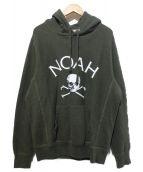 Noah(ノア)の古着「ジョリーロジャーロゴプルパーカー」|オリーブ