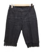 CHANEL(シャネル)の古着「デニムショートパンツ」|ブラック