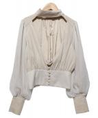 BELLE VINTAGE(ベルビンテージ)の古着「チョーカーブラウス」|アイボリー