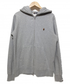 A BATHING APE()の古着「HEAVY WEIGHT FULL ZIP HOODIE」|グレー