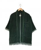 FILL THE BILL(フィルザビル)の古着「TOWEL BEACH JACKET ジャケット」|グリーン
