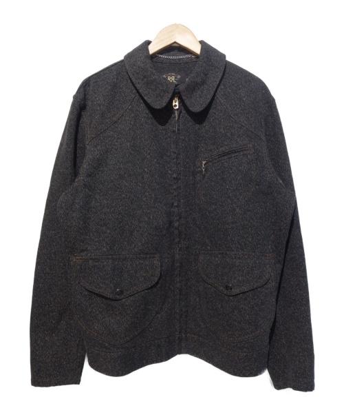 RRL(ダブルアールエル)RRL (ダブルアールエル) ジップアップジャケット ブラック サイズ:Lの古着・服飾アイテム