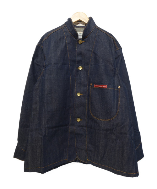 LEVIS×VISIONAIRE(リーバイス×ヴィジョネア)LEVIS×VISIONAIRE (リーバイス×ヴィジョネア) デニムサックコート ジャケット ブルー サイズ:36の古着・服飾アイテム
