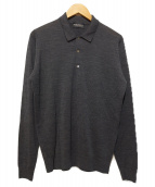 JOHN SMEDLEY(ジョンス メドレー)の古着「L/Sニットポロシャツ」|グレー