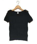 noir kei ninomiya(ノワール ケイ ニノミヤ)の古着「半袖ニット」|ブラック