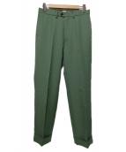KAIKO(カイコ)の古着「WIDE SLACKS」|グリーン