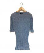 LARDINI(ラルディーニ)の古着「リネン混ニットカットソー」 ブルー