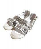 TOGA PULLA(トーガプルラ)の古着「メタルスニーカーサンダル」|ホワイト