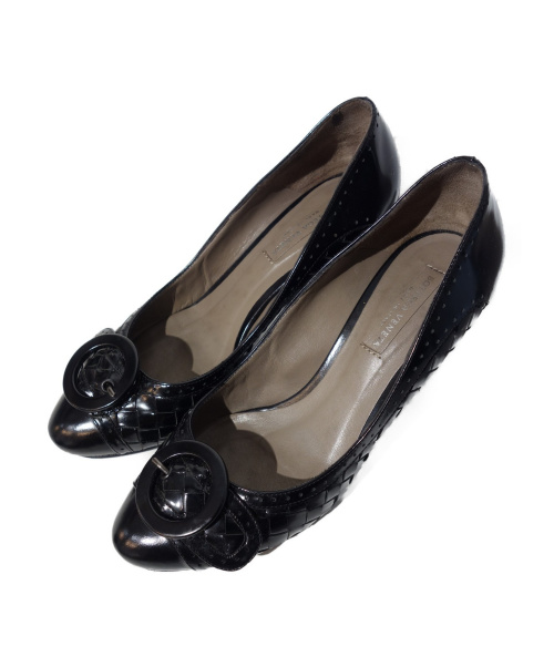 BOTTEGA VENETA(ボッテガヴェネタ)BOTTEGA VENETA (ボッテガヴェネタ) イントレバックルパンプス ブラック サイズ:36の古着・服飾アイテム