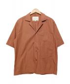 STUDIO NICHOLSON(スタジオ ニコルソン)の古着「オープンカラーシャツ」|ピンク