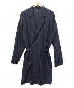 ms braque(エムズ ブラック)の古着「ベルテッドコート」 ネイビー