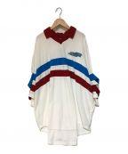 PAMEO POSE(パメオポーズ)の古着「刺繍オーバーサイズパイルポロシャツ」|ホワイト