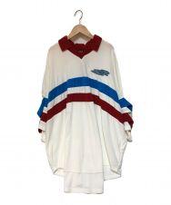 PAMEO POSE (パメオポーズ) 刺繍オーバーサイズパイルポロシャツ ホワイト サイズ:F