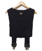 BLACK COMME des GARCONS(ブラックコムデギャルソン)の古着「サスペンダーベスト」 ブラック