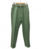 kaiko(カイコー)の古着「THE PREST トラウザーパンツ」|グリーン
