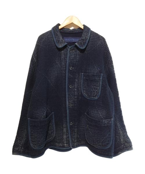 Porter Classic(ポータークラシック)Porter Classic (ポータークラシック) KENDO PC SASHIKO FRENCH JACKET ネイビー サイズ:XLの古着・服飾アイテム